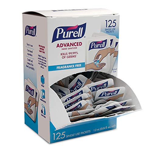 PURELL SINGLES Advanced Hand Sanitizer Gel, Fragrance Free, 125 Count...