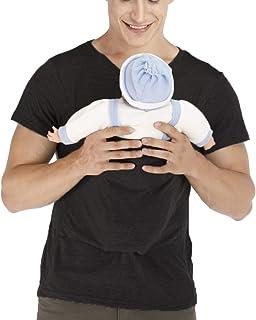 amropi Men's Baby Carrier Soothe V Neck Short Sleeve Kangaroo T Shirt