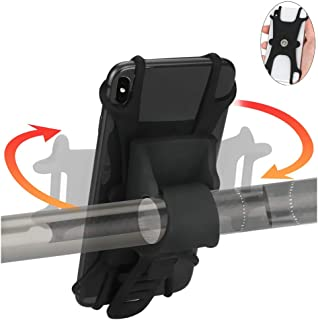 UFIND Bike Phone Mount, 360° Rotation Degrees Universal Bicycle Phone Mount, Silicone Motorcycle Phone Holder and Phone Bike Mount for iPhone Xs MAX/X/ 8/8 Plus/Samsung Galaxy
