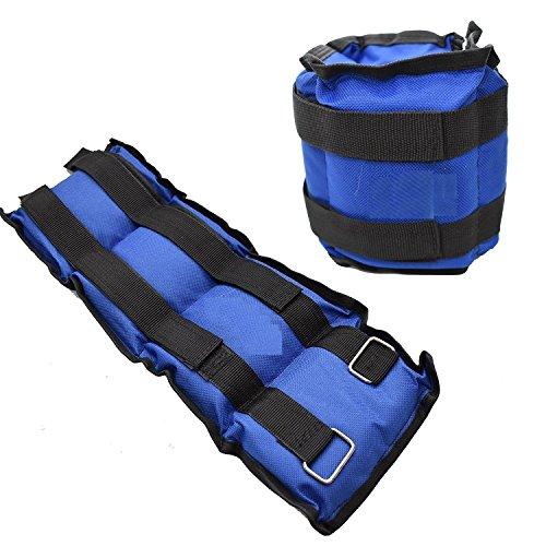 Ducomi Juri - Soft Pesos para Tobillos y Muñecas - Ideal para Deportes y Actividad Física - Mejora el Tono Muscular de Las Extremidades Inferiores y Superiores (Azul, 2 x 0,250 Kg)
