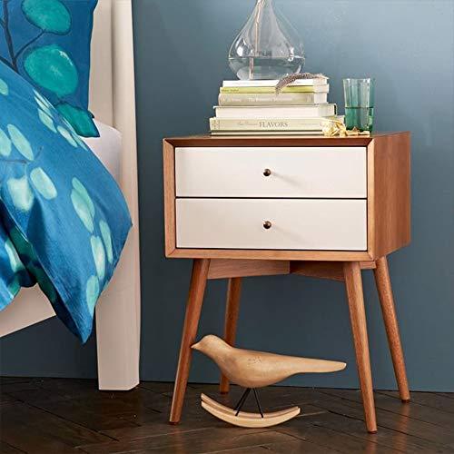 Mesas de Noche Sólido Madera Mesita de luz nórdica Apartamento pequeño pino Mesa de café Gabinete creativo Salón Dormitorio gabinete de los muebles para Casa ( Color : Gris , Size : 46x38x61cm )