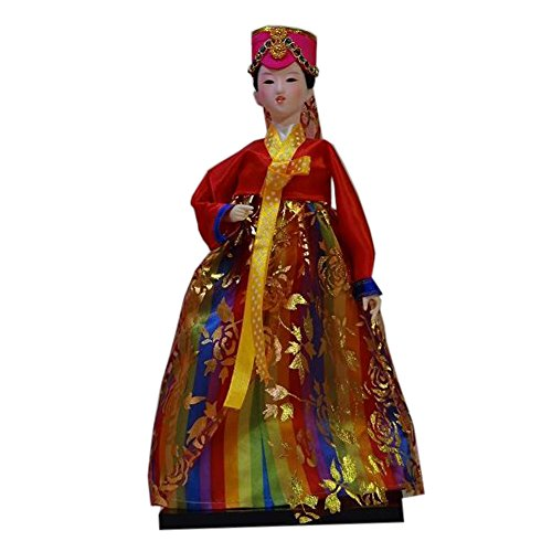 Blancho Korean Doll Oriental Doll Costume Traditionnel Antique ameublement Articles, H