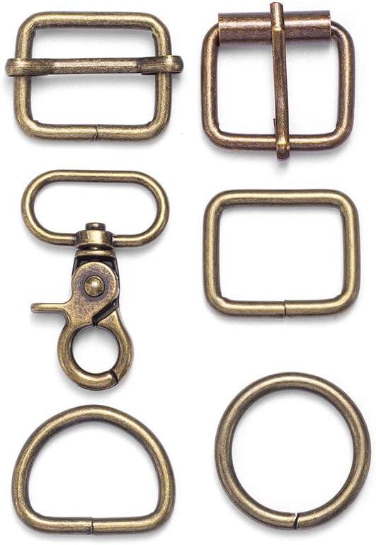 36 online shop Pieces Slide Buckle 1 inch Metal A Max 58% OFF Slides Rectangle Triglide