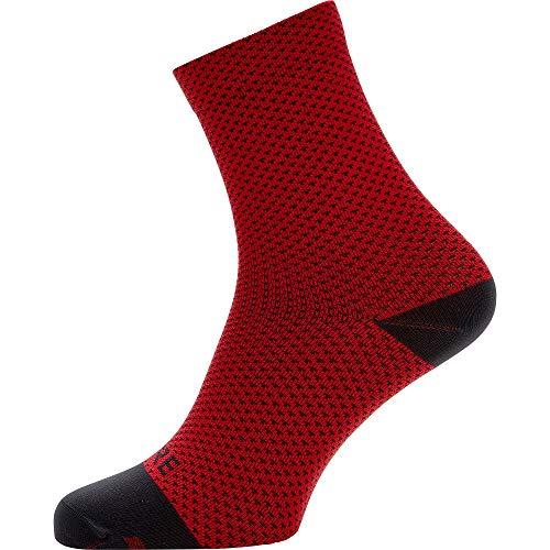 GORE WEAR C3 Calcetines para ciclismo unisex, Talla: 41-43, Color: rojo/negro