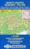 Tabacco Wandern 1 : 25 000 Massiccio del Grappa - Bassano - Feltre [Lingua inglese]: 051