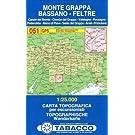 Tabacco Wandern 1 : 25 000 Massiccio del Grappa - Bassano - Feltre [Lingua inglese]