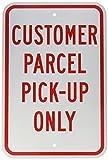 "Brady 115447 Parking Sign, Engineer Grade Aluminum, 18"" x 12"", Red/White"