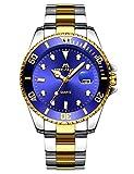 orologio uomo orologio impermeabile lusso acciaio inox oro moda design analogico quarzo orologi da polso data calendario business casuale quadrante grande