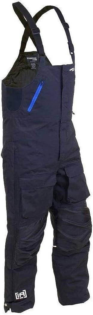 Clam 12748 Rise Float Bib Black/Blue Zips - XL: Clothing