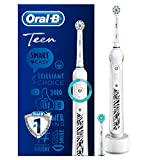 <span class='highlight'>Oral</span>-B Teen White <span class='highlight'>Electric</span> <span class='highlight'>Rechargeable</span> Toothbrush for Ages 13 , 1 Connected Handle, 1 Sensitive Toothbrush Head, 1 Orthodontic Toothbrush Head for Use with Braces (UK 2-Pin Bathroom Plug)
