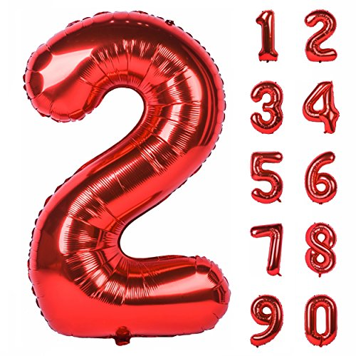 """40/"""" Giant Foil Balloons Number 0-9 Helium Wedding Birthday Party Home Decor aa"""