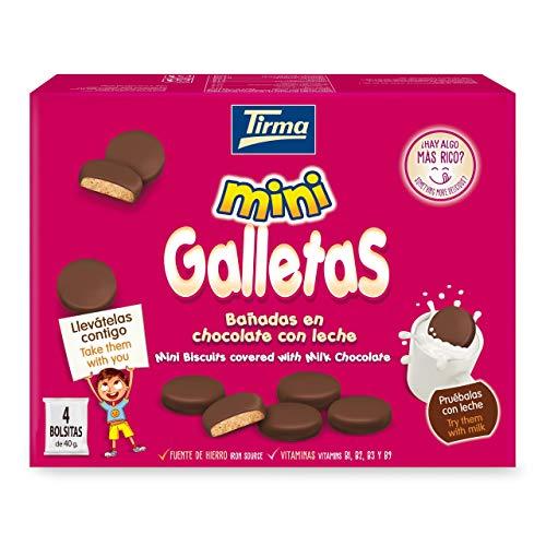 Mini Galletas Bañadas en Chocolate con Leche (4 x 40g)