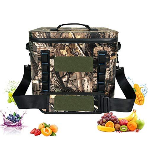 Sac de déjeuner isolé 20L Camouflage Étanche Glacière Sac Réfrigéré pour Adultes Enfants Femmes Hommes, Pique-Nique Sac Boîtes À Lunch Cooler Bag