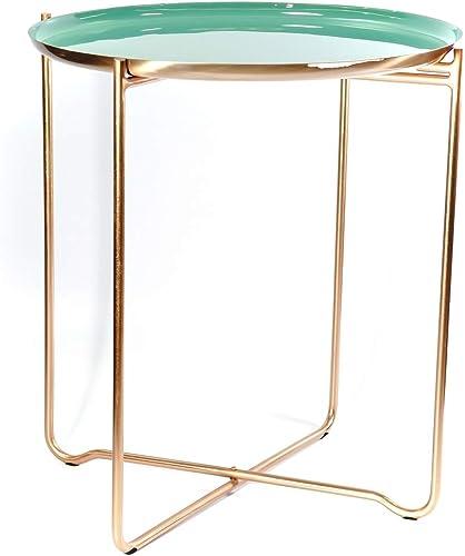 Mejor precio Kayoom Kayoom Kayoom Side Table Chloe 310 verde Copper  Garantía 100% de ajuste