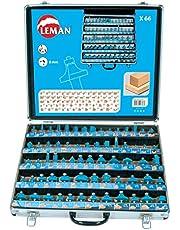 Leman 428.700 Juego 66 fresas variadas, Azul, 0
