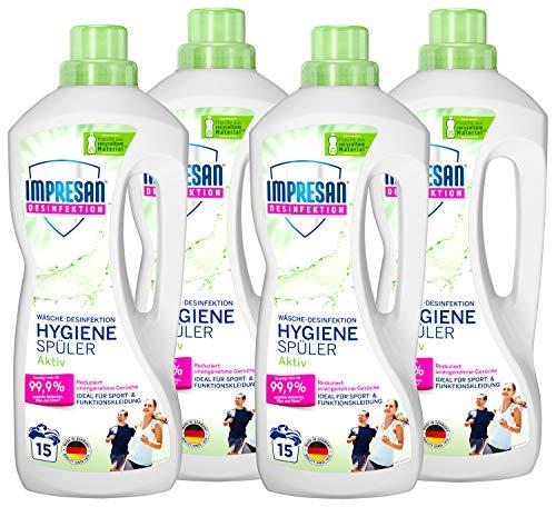 Impresan Hygiene-Spüler Aktiv: Wäsche-Desinfektion für Sportkleidung aus Funktionsfasern oder Synthetics – 4 x 1,25L im praktischen Vorteilspack