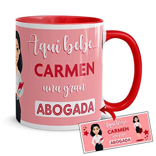 Kembilove Taza de Café de la Mejor Abogada del Mundo Personalizada con el Nombre – Taza de Desayuno para la Oficina – Taza de Café y Té para Profesionales – Taza de Cerámica Impresa para Abogadas