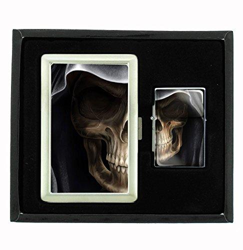 Best Review Of Grim Reaper Cigarette Case and Flip Top Oil Lighter Set