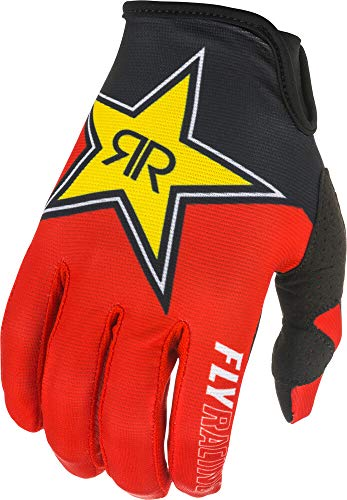 Fly Racing 2021 Lite Gloves - Rockstar (Large) (Black/RED/Yellow)