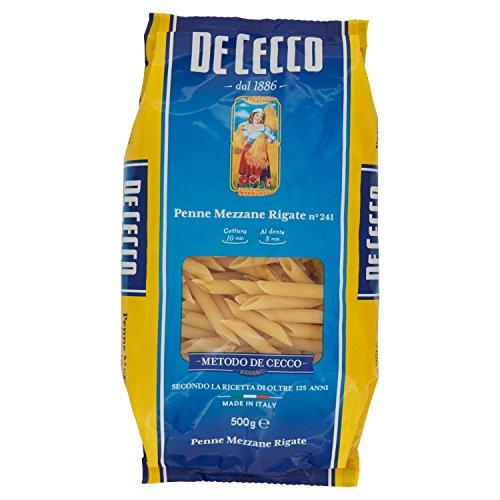 De Cecco - Penne Mezzane Rigate, Pasta di Semola di Grano Duro - 500 g