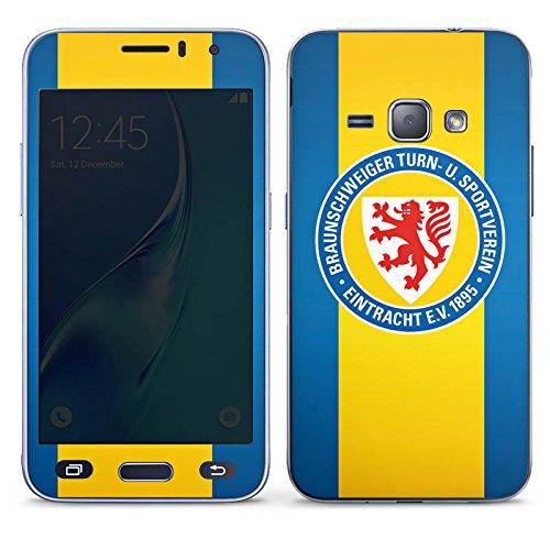 DeinDesign Samsung Galaxy J1 (2016) Folie Skin Sticker aus Vinyl-Folie Aufkleber Eintracht Braunschweig Fanartikel Football