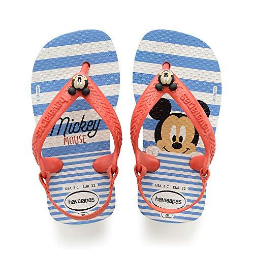 Havaianas Baby Disney Classics II, Unisex Baby Säugling-Unisex Baby, Mehrfarbig (White/Strawberry), 21 EU