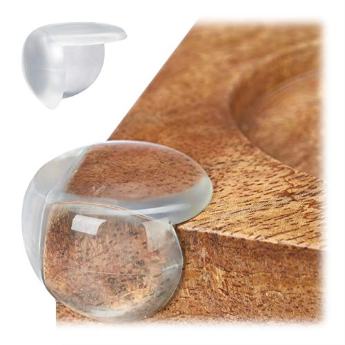 Relaxdays Protectores para Esquinas y Bordes, Set, Protección para Muebles, PVC, Antigolpes, 12 Uds, Transparente