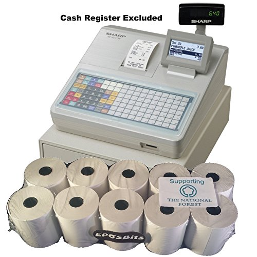 eposbits® Marke Rollen zu für Sharp xe-a217W xea-217W xea217W xea217xe-a217xea-217W Cash Register?10Rollen