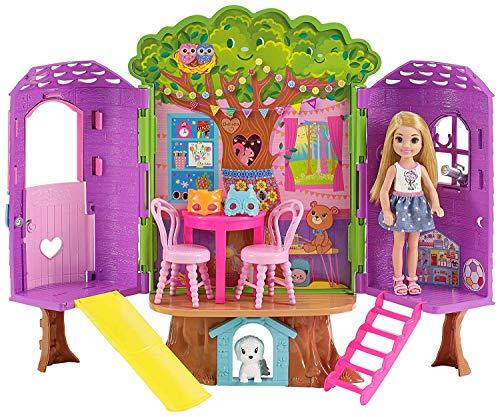 Barbie-la Casa sull'Albero di Chelsea-con Bambola Inclusa-Due Piani e Accessori, FPF83