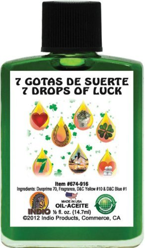 Indio 7 Drops Of Luck Fragranced Oil - 0.5oz by Indio Products