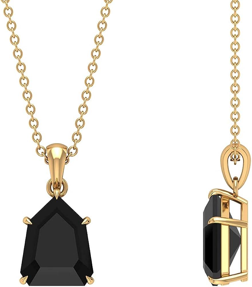 Solitaire Pendant Miami Mall Necklace half Pentagon Women For Gold Pe