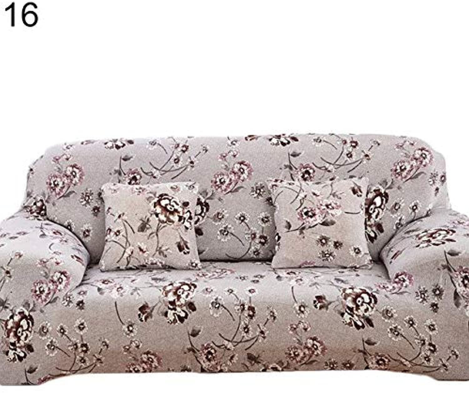 Farmerly Pastoral Stretch Sofa Furniture Cover Case Floral Printed Slipcover Home Decor   16