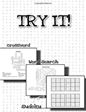 TRY IT! crossword word search sudoku: puzzle for kids and adults