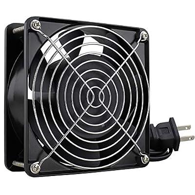 GDSTIME AXIAL Fan 12038, 110V 120V AC 120mm Fan, Ventilation Exhaust Projects Cooling Fan