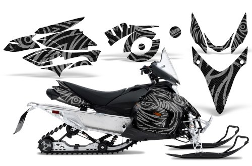 CreatorX Graphics Kit Decals Stickers for Yamaha Phazer Rtx Gt Mtx Snowmobile Sled TribalZ Silver