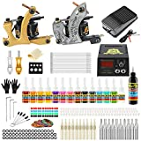 Solong Tattoo Complete Starter Beginner Tattoo Kit 2 Pro Machine...