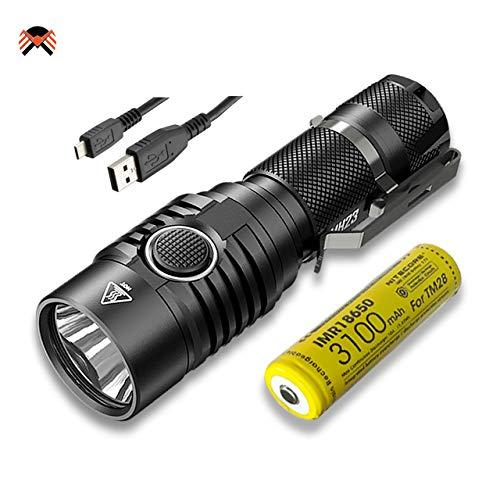 Nitecore® LED-Taschenlampe mit hoher Leistung (1.800Lumen), über USB aufladbar, wasserdicht