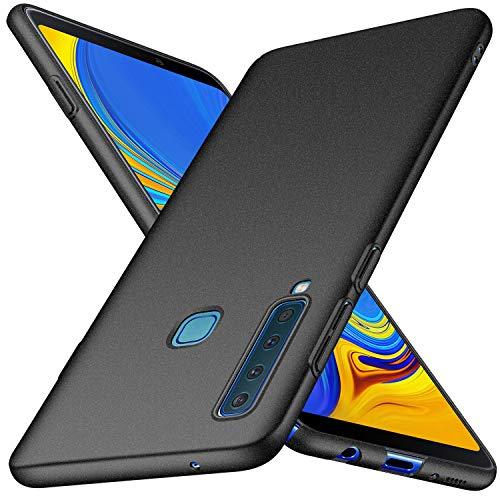 Samsung Galaxy A9 2018 Hülle, Anccer [Serie Matte] Elastische Schockabsorption & Ultra Thin Design für Samsung Galaxy A9 2018 (Kies Schwarz)
