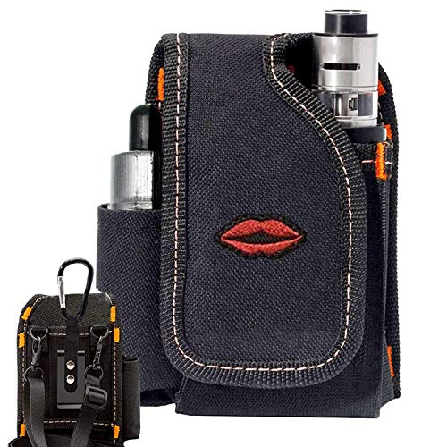 Vape Mod Carrying Bag, Vapor Case for Box Mod, Tank, E-Juice, Battery - Best Vape Portable Travel to Keep Your Vape Accessories Organized [CASE ONLY] (Lip)