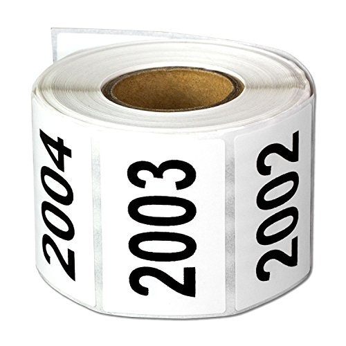 """Consecutive Number Labels Self Adhesive Stickers""""2001 to 2500"""" (White Black / 1.5 x 1 Inch) - 500 Labels Per Pack"""