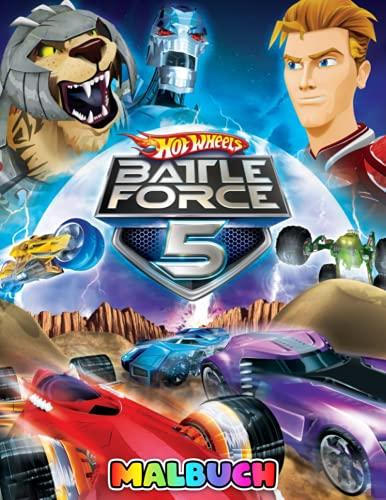 Hot Wheels Battle Force 5 Malbuch: Fantastisches Malbuch für Kinder, Erwachsene und Fans mit riesigen Seiten und exklusiven Illustrationen