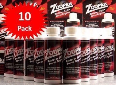 ZDDPPlus ZDDP Engine Oil Additive Zinc & Phosphorus 10 Bottle Pkg