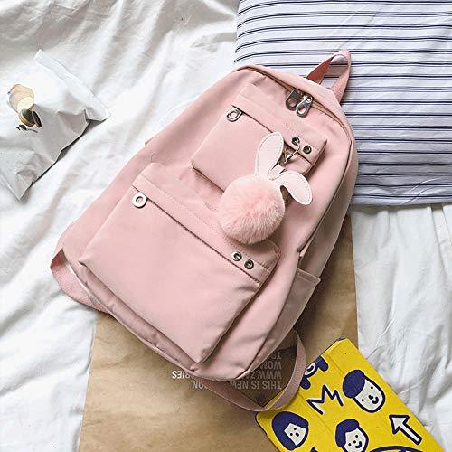 ZZYJYALG Mochila de mochila para mujer Schoolbag Femenina Campus coreano, Joker Sencillo High School Junior High School School School Mochila, Mochila de viaje, Ocio Lindo Cuaderno Escuela Bolsa de mo