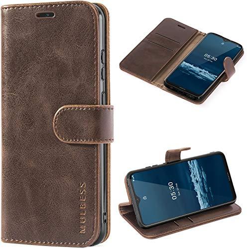 Mulbess Handyhülle für Nokia 5.3 Hülle Leder, Nokia 5.3 Handy Hüllen, Vintage Flip Handytasche Schutzhülle für Nokia 5.3 Hülle, Kaffee Braun