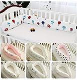 240CM Minky Dot Almohada para dormir en forma de U bebé Niños Niñas Protector de ropa de cama Almohadillas para cuna Desmontables, Cojín cilíndrico parachoques cuna cama, Relleno de huecos de cama