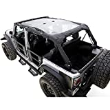RAMPAGE PRODUCTS 94101R Combo Brief Extended Topper with Zip Out Rear Section for 1992-1995 Jeep Wrangler YJ,...