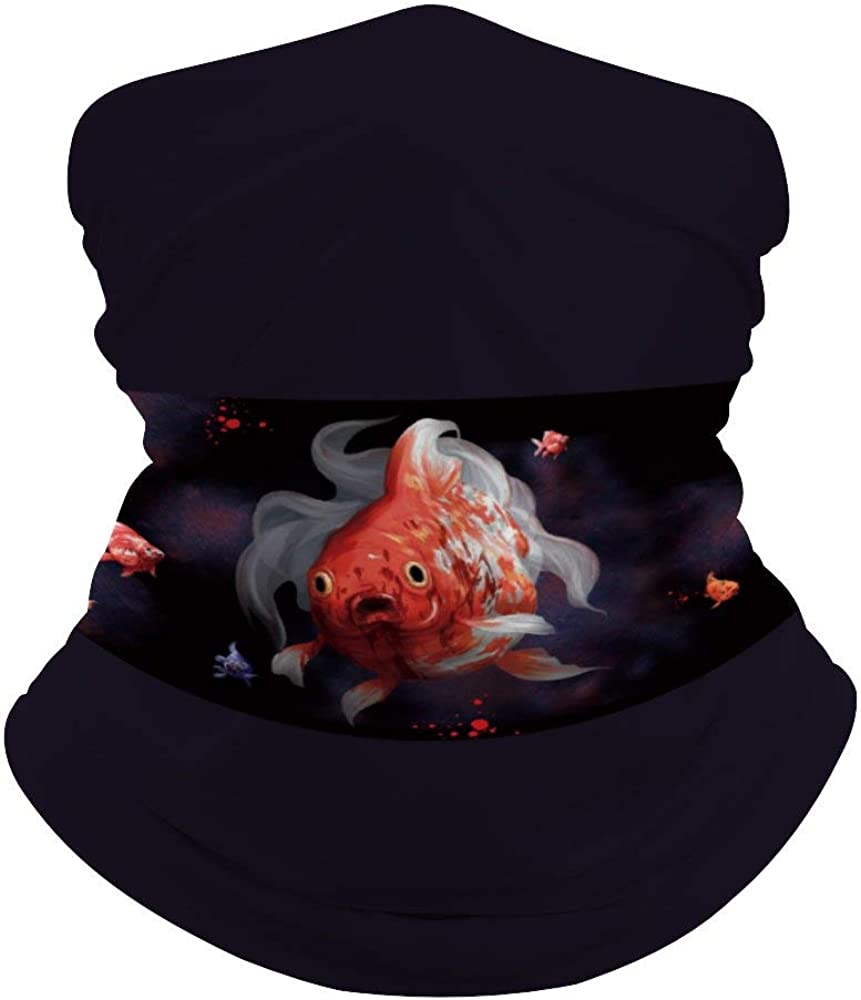 Goldfish Neck Gaiter Face Cover Scarf Breathable Summer Cooling Seamless Bandana Wrap Face Mask - Women & Men For Dust Outdoor Festivals Sports