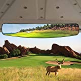 HKOO Golf cart Rear View Mirror,16.5' Extra Wide 180 Degree Panoramic Rear View Mirror Fit for Golf Cart EZGO Club Car Yamaha (Rear View Mirror)