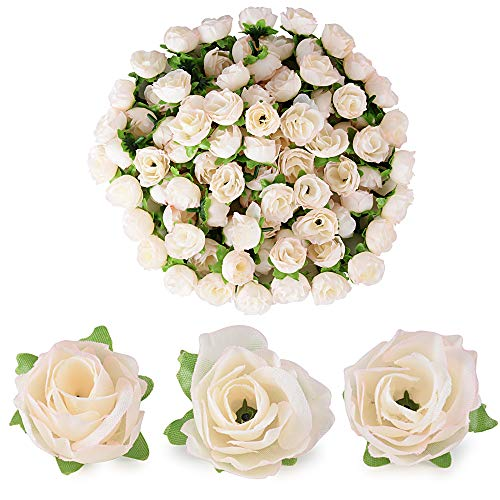 BUONDAC 100 Stücke Künstliche Blütenköpfe Blumen Köpfe Rosenköpfe Rosen Kopf Kunstblumen Seide Klein deko für Hochzeit Feste Partei Haus DIY Basteln