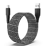 Cargador de iPhone de 16 pies, cable Lightning trenzado de nailon Cable de carga de 2,4 A, transferencia de sincronización de datos de 480 Mbps Cable de alimentación de carga compatible con iPhone 12
